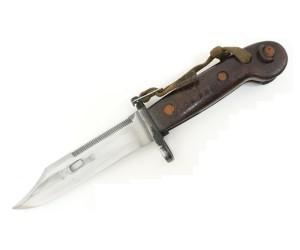 ММГ штык-нож ШНС-001-02 (АКМ / АК-74), коричн. рукоять бакелит, «Люкс»
