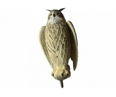 Чучело филина с крыльями большое (серый)
