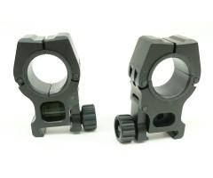Кольца 25/30 мм быстросъемные на Weaver, с уровнем, универсальные (BH-RS35)