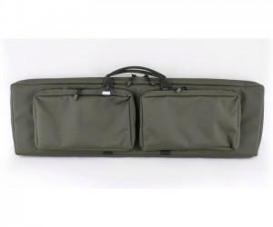 Кейс Vektor из капрона зеленый с крепл. Molle, 2 карманами и отдел. под магазины (А-9-1 з)