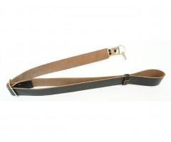 Ремень оружейный для АК (1 карабин) черная кожа