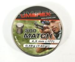 Пули Umarex Match Pro 4,5 мм, 0,48 грамм, 500 штук