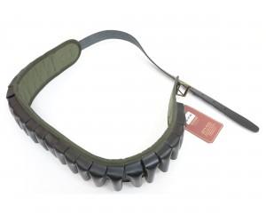 Патронташ Vektor открытый капроновый с газырями и ремнем из нат. кожи (П-46)