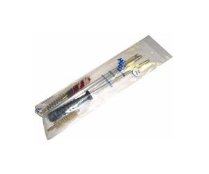 Набор для чистки MegaLine в п/э пакете, лат. шомпол, 3 ерша, 5,6 мм