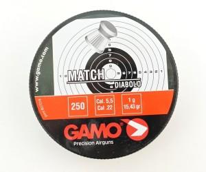 Пули Gamo Match 5,5 мм, 1,0 грамм, 250 штук