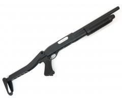 Страйкбольный дробовик Cyma Remington M870 Compact, складной приклад (CM.352M)