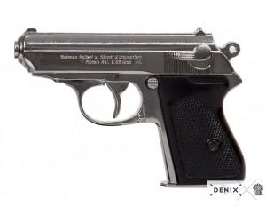 Макет пистолет Вальтер PPK Waffen-SS, никель (Германия, 1929 г., 2-я Мир.война) DE-1277-NQ