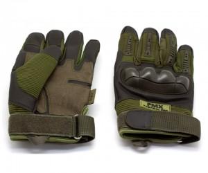 Перчатки тактические PMX Tactical Pro, прорезиненный кастет (хаки)