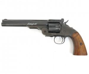 """Пневматический револьвер ASG Schofield 6"""" Aging Black (пулевой)"""