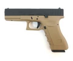 Страйкбольный пистолет WE Glock-17 Gen.3 Tan (WE-G001A-TAN)