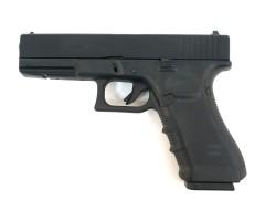 Страйкбольный пистолет WE Glock-17 Gen.4, сменные накладки (WE-G001B-BK)