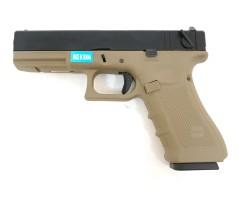 Страйкбольный пистолет WE Glock-18 Gen.4 Tan, сменные накладки (WE-G002B-TAN)