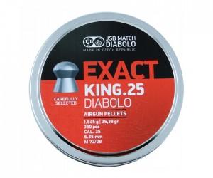 Пули JSB Diabolo Exact King 6,35 мм, 1,645 грамм, 350 штук