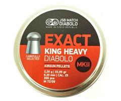 Пули JSB Diabolo Exact King Heavy MK II 6,35 мм, 2,2 грамм, 300 штук