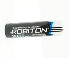 Аккумулятор Robiton 18650 3000 mAh, с защитой PK1