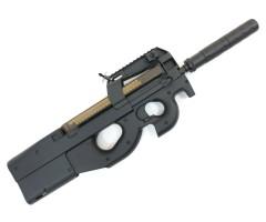 Страйкбольный пистолет-пулемет Cyma FN P90, с глушителем (CM.060B)