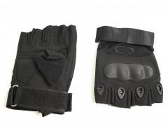 Перчатки тактические укороченные Oval (черные)