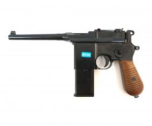Страйкбольный пистолет WE Mauser 712, кобура-приклад (WE-712-BK)