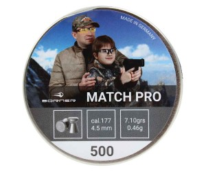 Пули Borner Match Pro 4,5 мм, 0,46 грамм, 500 штук