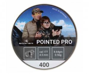 Пули Borner Pointed Pro 4,5 мм, 0,56 грамм, 400 штук