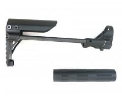 Приклад телескопический для AEG M-серии, алюминий и сталь (BH-GT18)