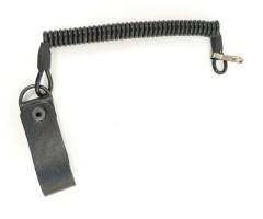 Тросик спиральный сталь, черный (со шлёвкой)