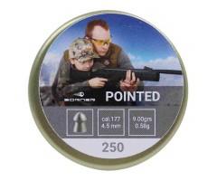 Пули Borner Pointed 4,5 мм, 0,58 грамм, 250 штук