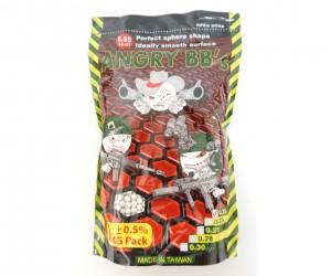 Шары для страйкбола Angry BB's 0,20 г, 5000 штук (1 кг, белые)