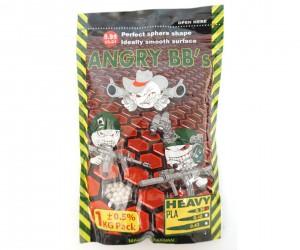 Шары для страйкбола Angry BB's 0,36 г, 2800 штук (1 кг, белые)