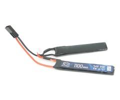 Аккумулятор BlueMAX Li-Po 7.4V 1100mah 20C, 2 x (102x21x5) мм (нунчаки)