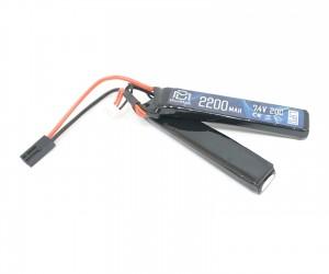 Аккумулятор BlueMAX Li-Po 7.4V 2200mah 20C, 2 x (102x20x12) мм (нунчаки)