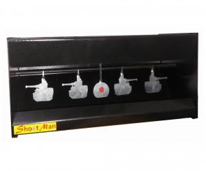 Минитир-пулеулавливатель «Танки» Т (4+1 мишени, автомат) металл 2 мм