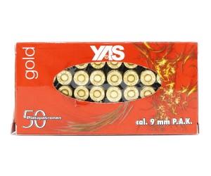 Патрон светозвукового действия 9 мм P.A.K. Gold Blank (YAS) 50 штук