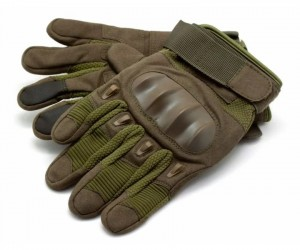 Перчатки тактические Стикхант Sniper прорезин. кастет I-Touch (хаки)