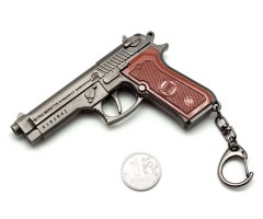 Брелок Microgun L пистолет Beretta M9 с нажимным курком