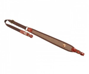 Ремень для ружья Vektor регулируемый, натуральная кожа, коричневый