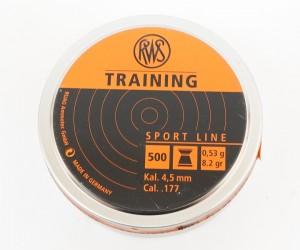 Пули RWS Training 4,5 мм, 0,53 грамм, 500 штук