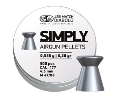 Пули JSB Simply 4,5 мм, 0,52 грамм, 500 штук