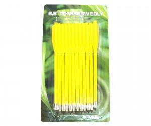 """Дротики для арбалетов-пистолетов пластиковые 6,5"""" (12 штук) желтые"""