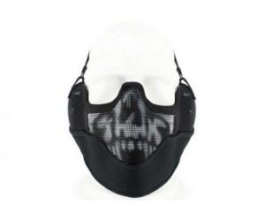 Маска сетчатая на нижнюю часть лица Tactical V2 Вlack Skull