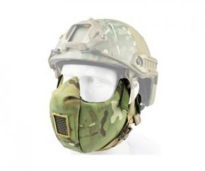 Маска защитная на нижнюю часть лица Tactical V5 Multicam