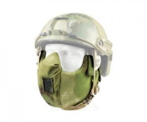 Маска защитная на нижнюю часть лица Tactical V5 Green Camo