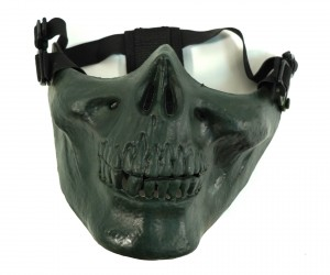 Маска защитная на нижнюю часть лица Skeleton Green