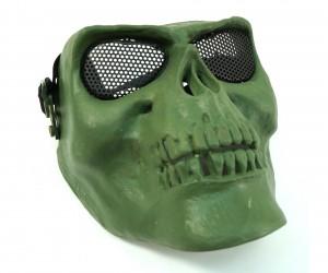 Маска на все лицо с сетчатыми очками Skeleton V2 Green