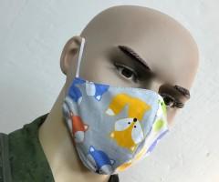 Защитная маска многоразовая детская 2-слойная (разноцвет) 3 шт.
