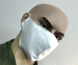 Защитная маска многоразовая 2-слойная (белая) 3 шт.