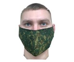 Защитная маска многоразовая 2-слойная NS Green Pixel (10 шт.)