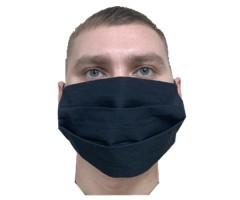 Защитная маска многоразовая 2-слойная MVB Black (10 шт.)