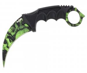 Нож керамбит «Ножемир» HCS-1 (из игры CS:GO) зел. черепа
