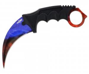Нож керамбит «Ножемир» HCS-3 (из игры CS:GO) мраморный градиент